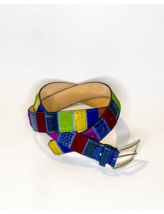 Ledergürtel 4-farbig